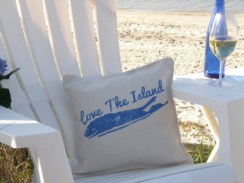 Long Island Throw Pillows - Long Island Decorative Pillows - Love The Island Flow Pillows - Long Island Home Decor - Holiday Gifts - Christmas Gifts - Unique Gifts
