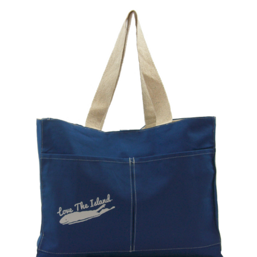 TOTE: Cotton Two Pocket Tote - Love The Island