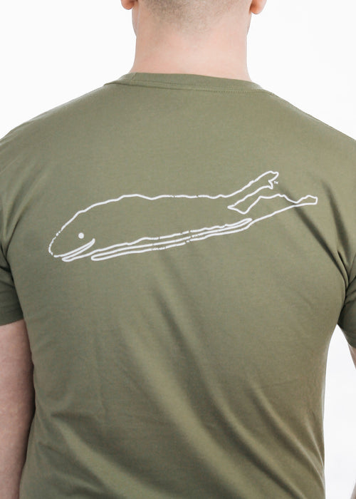 Men's T-Shirt: 100% Cotton Crew Neck Short Sleeve - Light Olive - Love The Island
