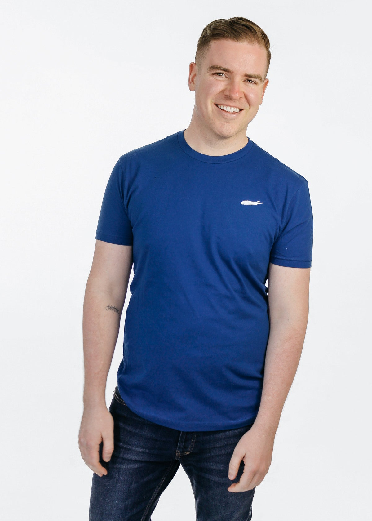 Men's T-Shirt: 100% Cotton Crew Neck Short Sleeve - Royal Blue - Love The Island