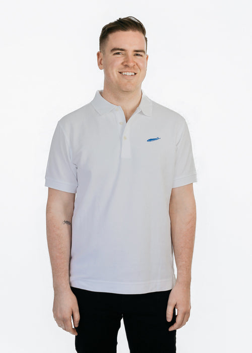 Long Island Polo Shirt - Long Island Golf Shirt - Love The Island - 100% Pima Cotton Polo - White