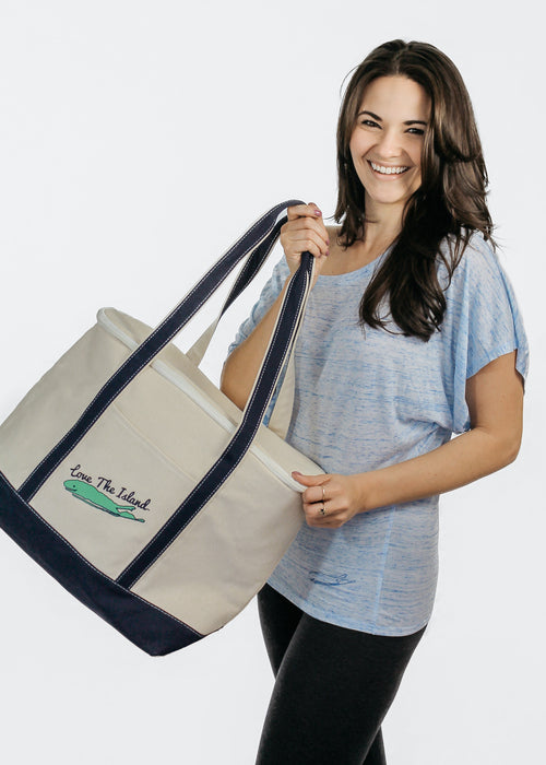 Long Island Cooler Tote Bag - Long Island Cooler Beach Tote - Love The Island Soft Cooler Tote - Long Island Cooler Tote Bag - Long Island Gifts - Holiday Gift Ideas