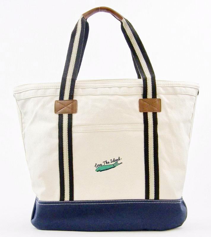 TOTE: Heritage Yacht Zipper Tote - Love The Island