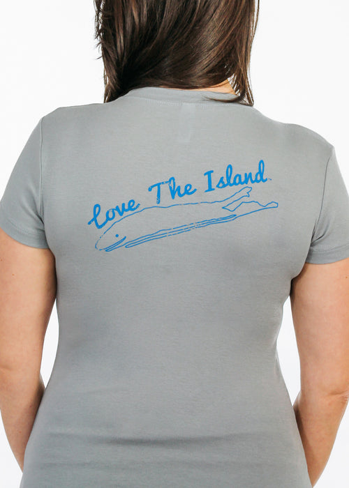 Ladies T-Shirt: Sheer Rib Longer Length - Granite - Love The Island