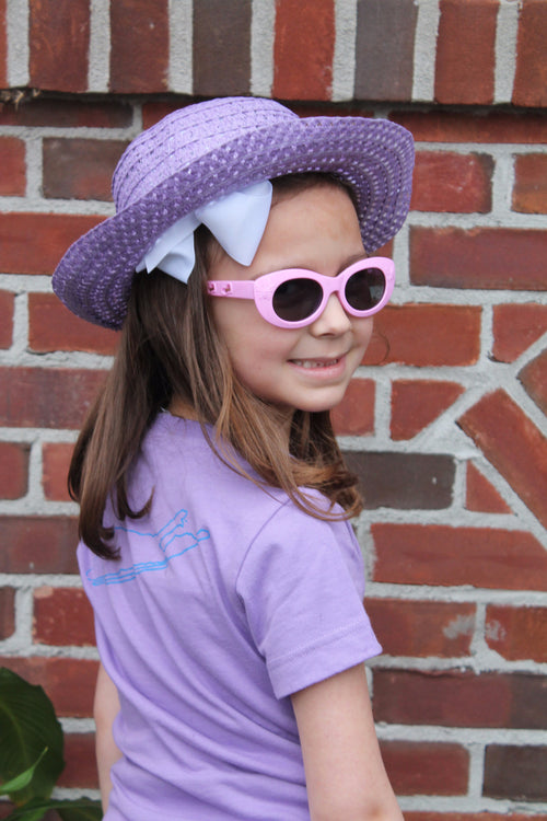 Long Island Girls T-Shirt - lavender - love the island - long island