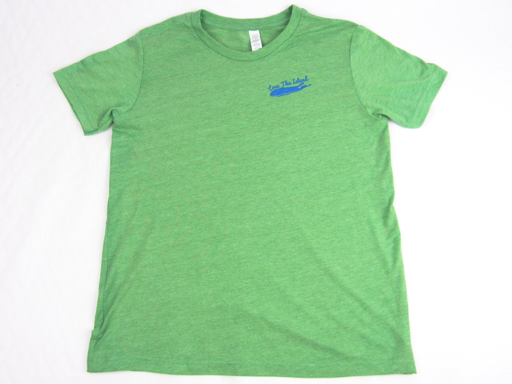 Boys T-Shirt: Short Sleeve - Green Tri-blend - Love The Island