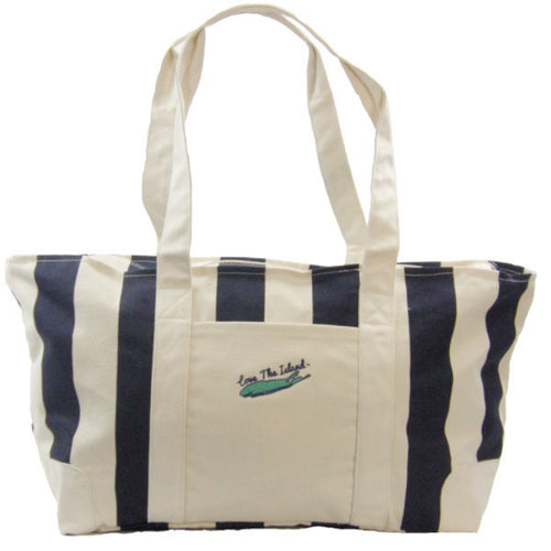 TOTE: Big Cabana Canvas Zipper Tote - Love The Island