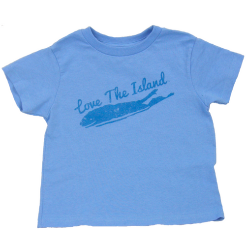 Toddler T-Shirts: Blue - Love The Island
