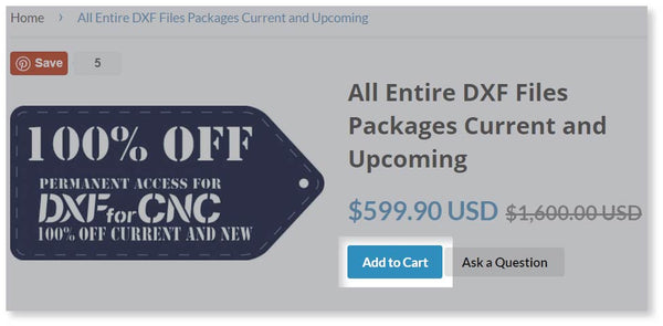 adding products to the cart-DXFforCNC.com