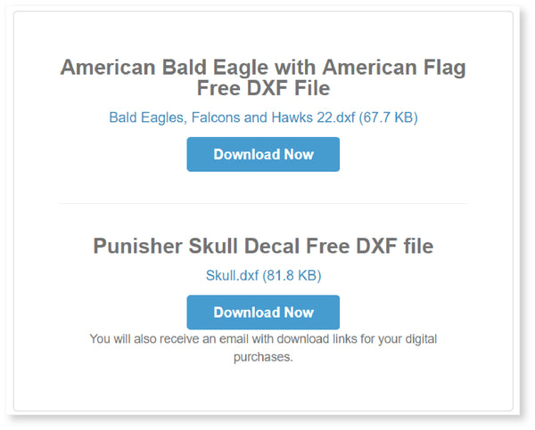 thanks you and download page-dxfforcnc.com