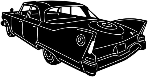 1960 Fury Old Muscle Car-DXF files Cut Ready for CNC-DXFforCNC.com