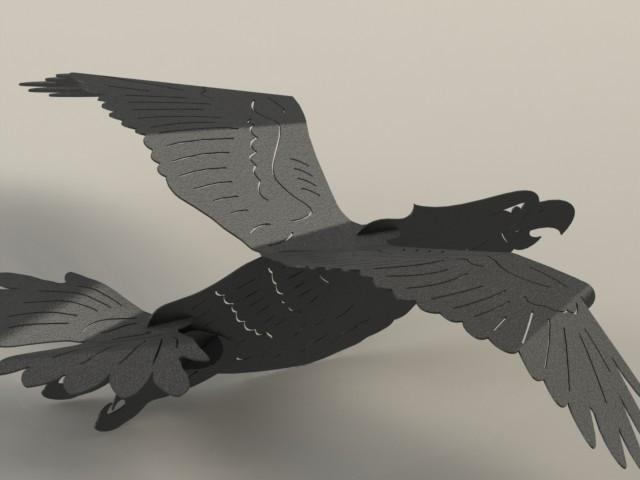 3D Puzzle Bald Eagle-DXFforCNC.com-DXF Files cut ready cnc machines