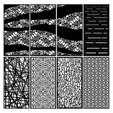 Abstract Decorative Privacy Screen Panels or Fence-dxf files cut ready for cnc
