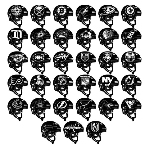 American NHL Teams Logos Helmets-DXF files Cut Ready for CNC-DXFforCNC.com