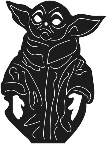 Baby Yoda Child Alien-DXF files Cut Ready for CNC-DXFforCNC.com