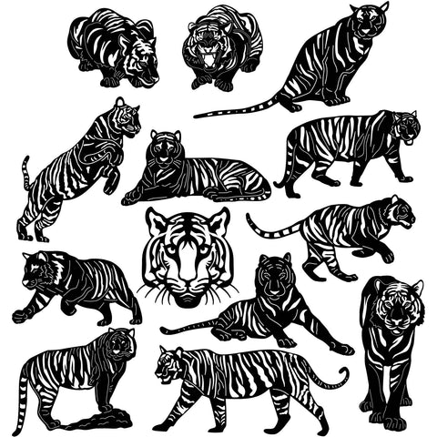 Bengal Tigers-DXFforCNC.com-DXF Files cut ready cnc machines