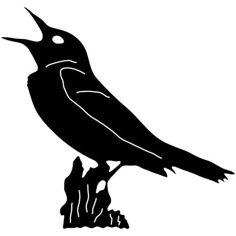 Bird on Branch Free DXF File-Cut Ready for cnc machines-DXFforCNC.com