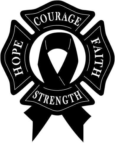 Ribbon Cancer and Benefits, Hope, Strength, Faith, Courage-DXF files cut ready