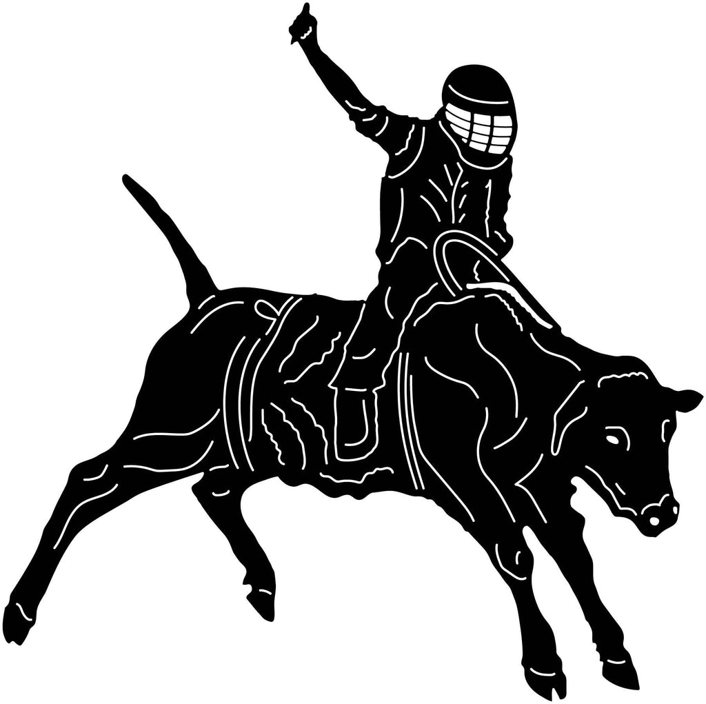 Bull and Rider-DXF files cut ready for cnc machines-dxfforcnc.com