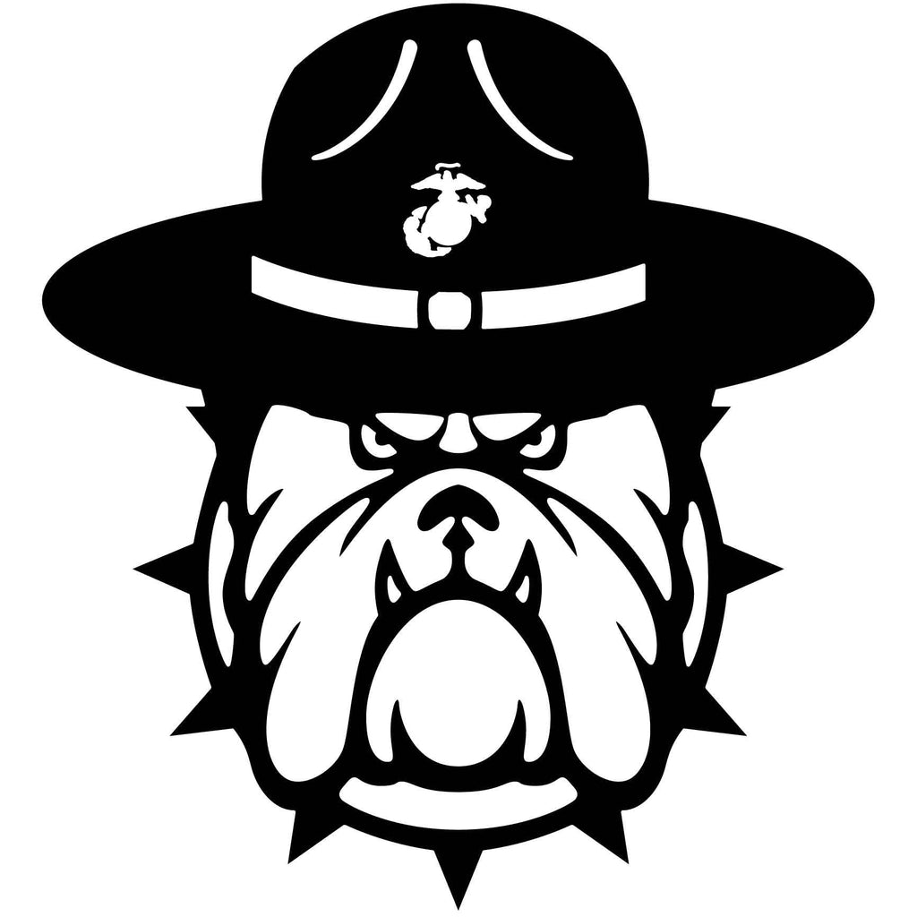 Bulldog Marine Officer Face-DXF File cut ready for CNC machines