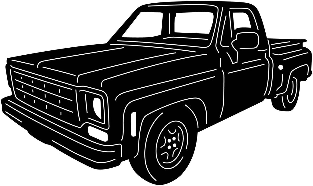Chevy Truck-DXF File cut ready for CNC machines-dxfforcnc.com