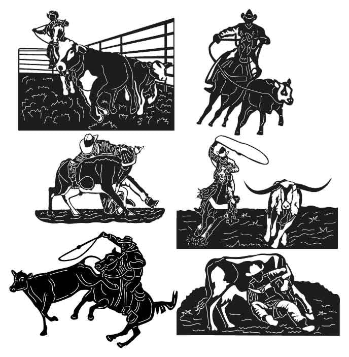 Cow Catching-DXF files Cut Ready for CNC-DXFforCNC.com