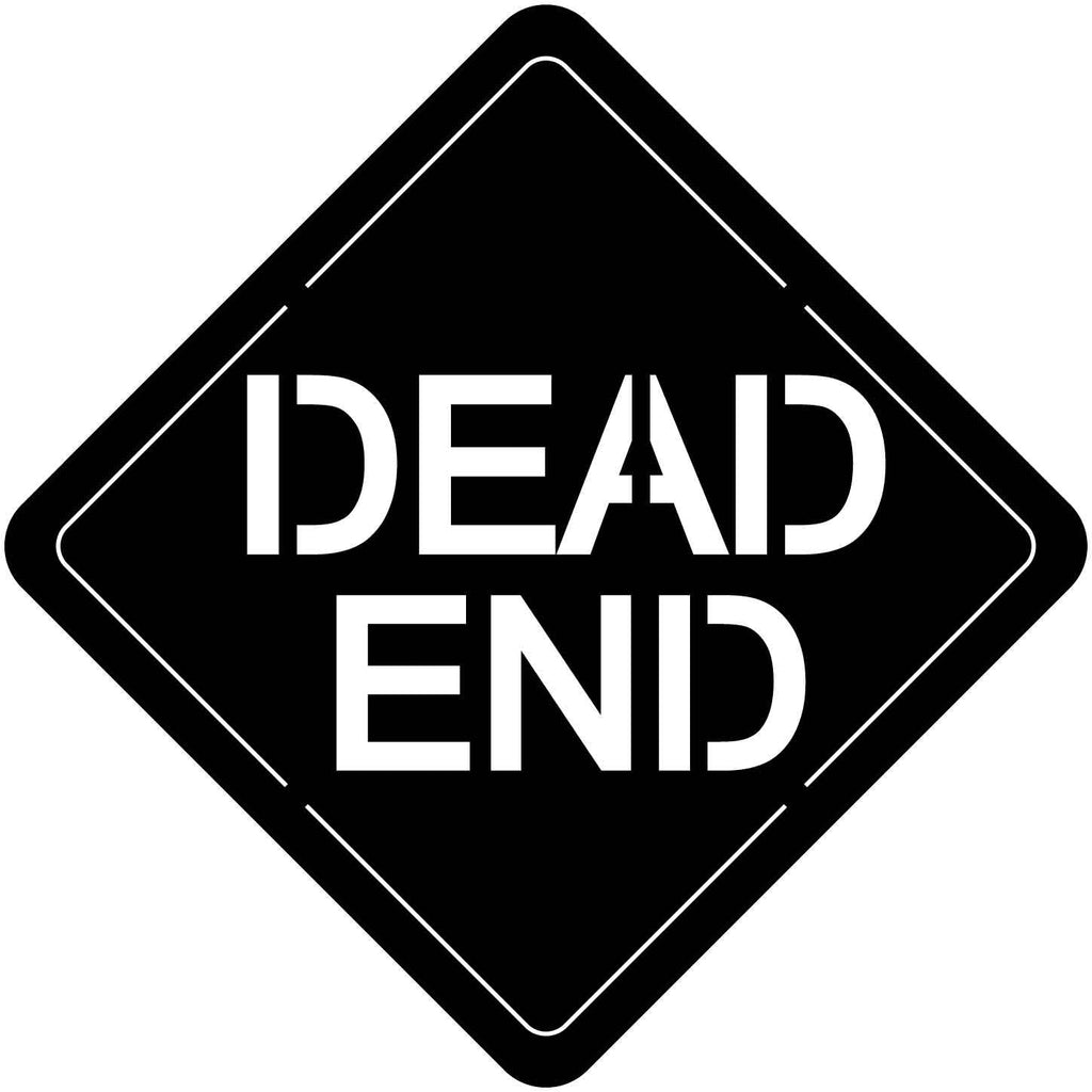 Dead End Sign Free DXF file-cut ready for cnc-dxfforcnc.com