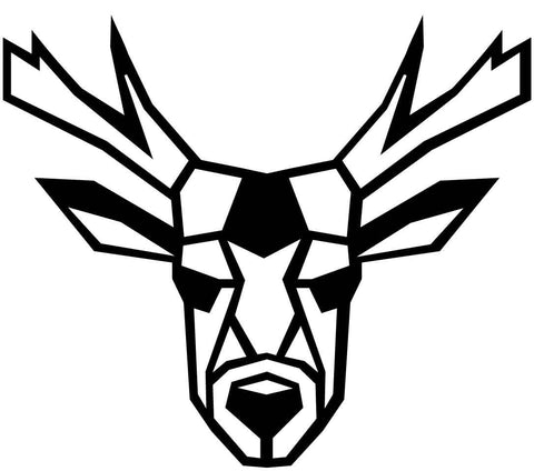 Deer Face Geometric-DXF files Cut Ready for CNC-DXFforCNC.com