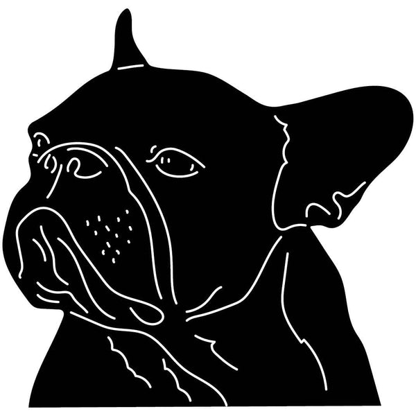 Dog Face Free-DXF files cut ready for CNC-DXFforCNC.com
