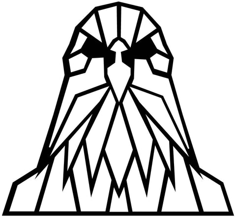 Eagle Face Geometric-DXF files Cut Ready for CNC-DXFforCNC.com