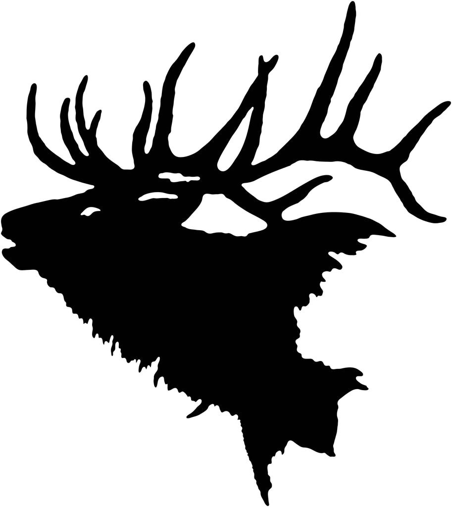 Elk Head-dxf files cut ready for cnc machines-DXFforCNC.com