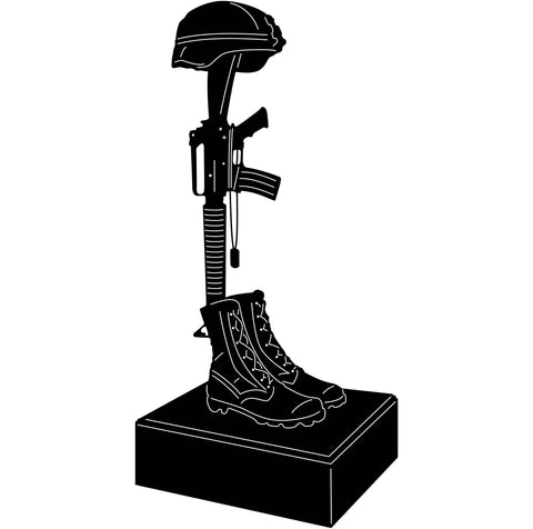 Fallen Soldier Memorial-DXF files cut ready for cnc machines-DXFforCNC