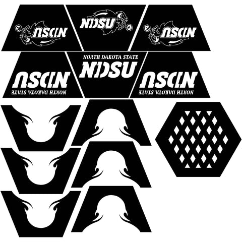 Fire Pit Hexagon NDSU logo-dxf files cut ready for cnc-dxfforcnc.com