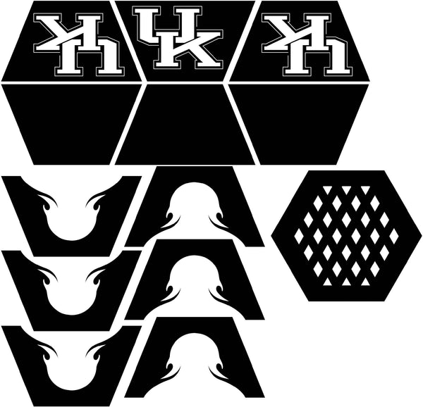 Fire Pit Hexagon UK logo-dxf files cut ready for cnc machines-dxfforcnc.com