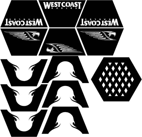 Fire Pit Hexagon West Coast Eagles Logo-dxf files cut ready for cnc-dxfforcnc.com