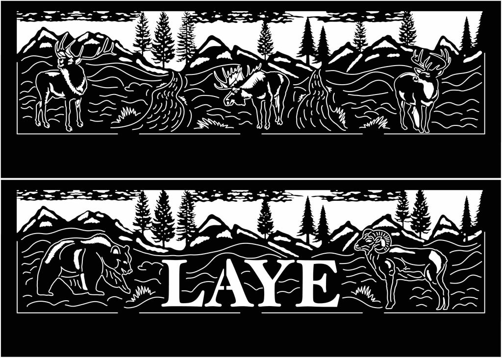 Fire Pit with Farm Scene LAYE-dxf files cut ready for cnc machines