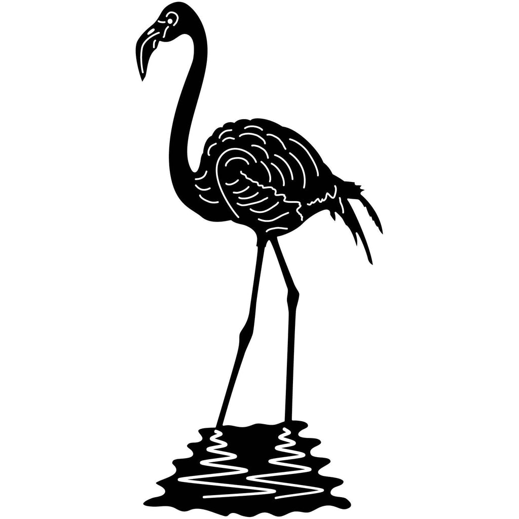 Greater Flamingo-dxf file cut ready for cnc machines-dxfforcnc.com