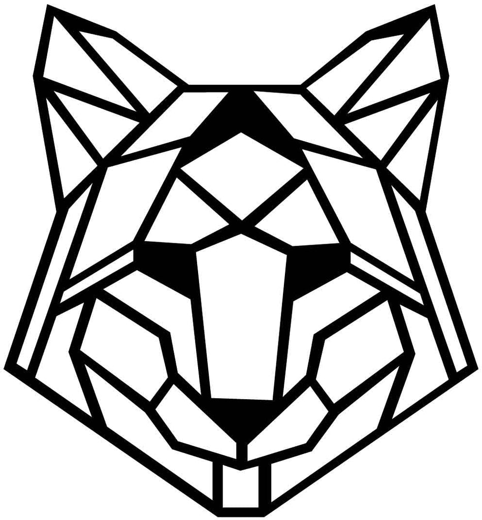 Fox Face Geometric-DXF files Cut Ready for CNC-DXFforCNC.com