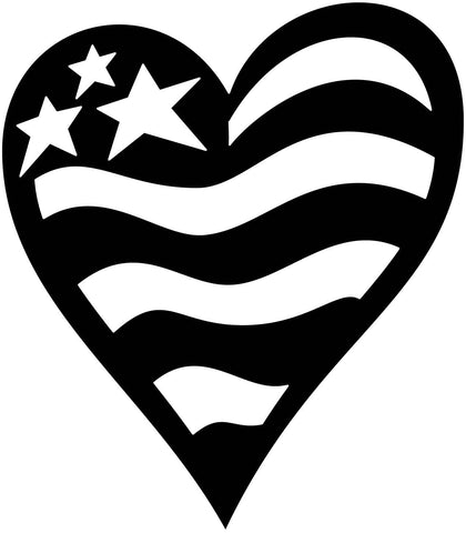Free Heart of USA Flag-DXFforCNC.com-DXF Files cut ready cnc machines