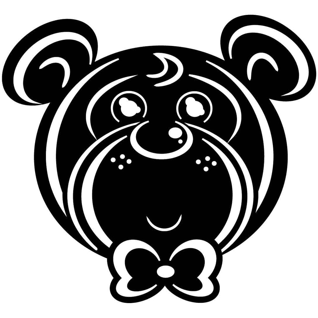Teddy Bear Baby Free DXF file-cut ready for cnc-dxfforcnc.com