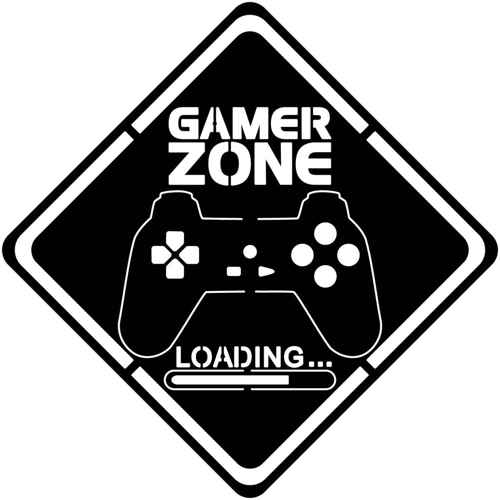 Gamer Zone sign Free DXF file