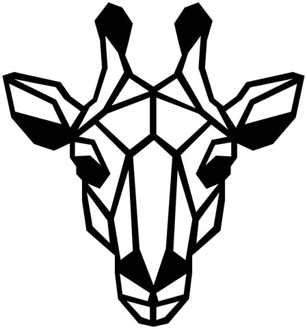 Giraffe Face Geometric-DXF files Cut Ready for CNC-DXFforCNC.com
