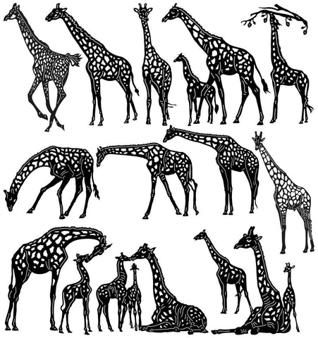 African Giraffe-DXF files Cut Ready for CNC-DXFforCNC.com