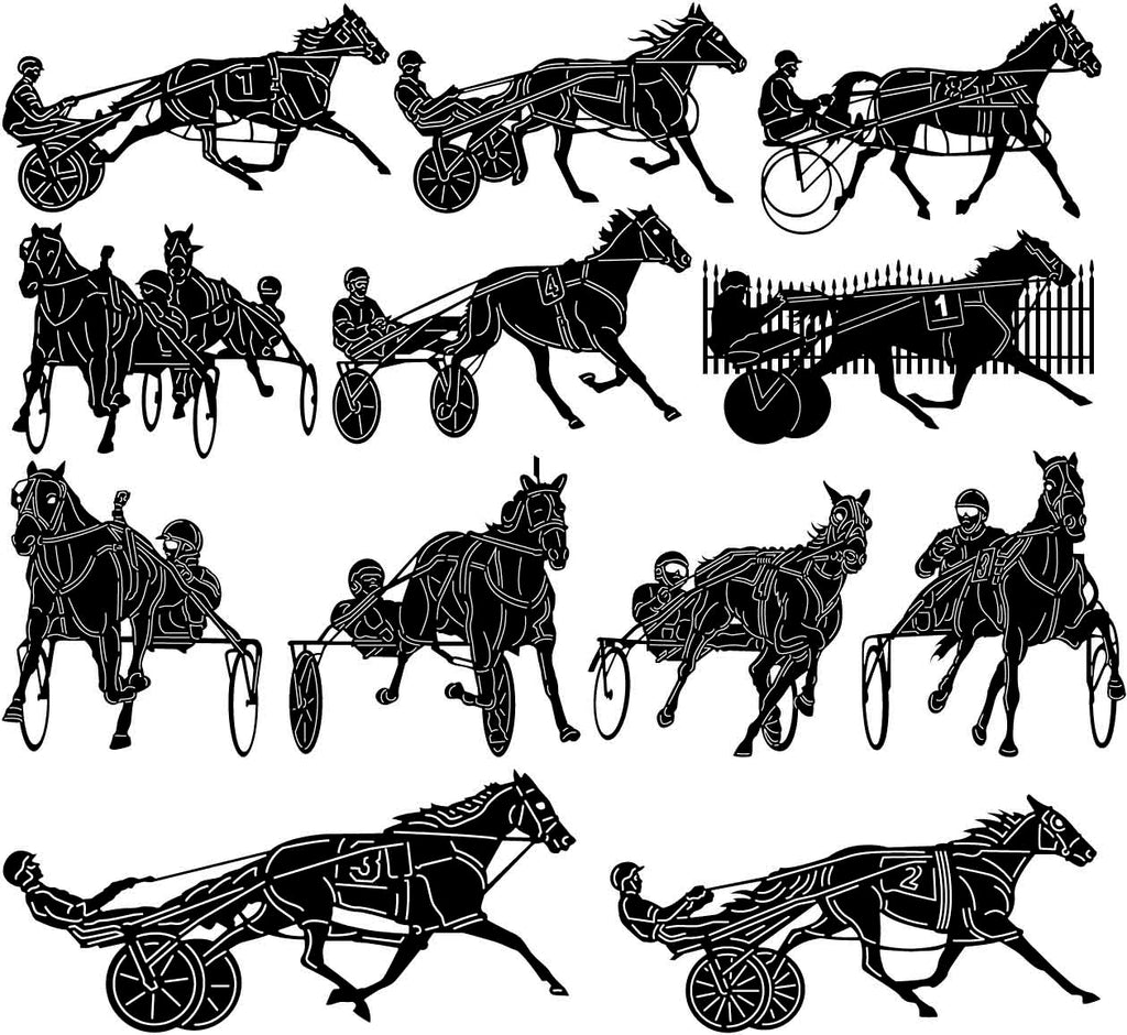 Trotting Harness Racing-DXF files Cut Ready for CNC-DXFforCNC.com