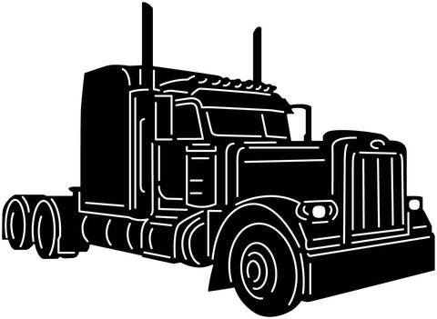 Semi Truck Heavy Duty-DXF files cut ready for cnc machines-dxfforcnc.com