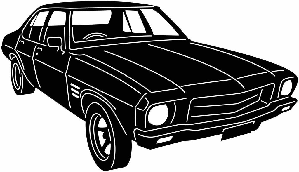 Holden 1972 Old Muscle Car-dxf file cut ready for cnc machines-dxfforcnc.com