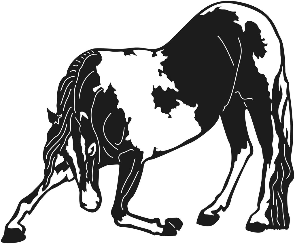 Horses Bowing-DXF files Cut Ready for CNC-DXFforCNC.com