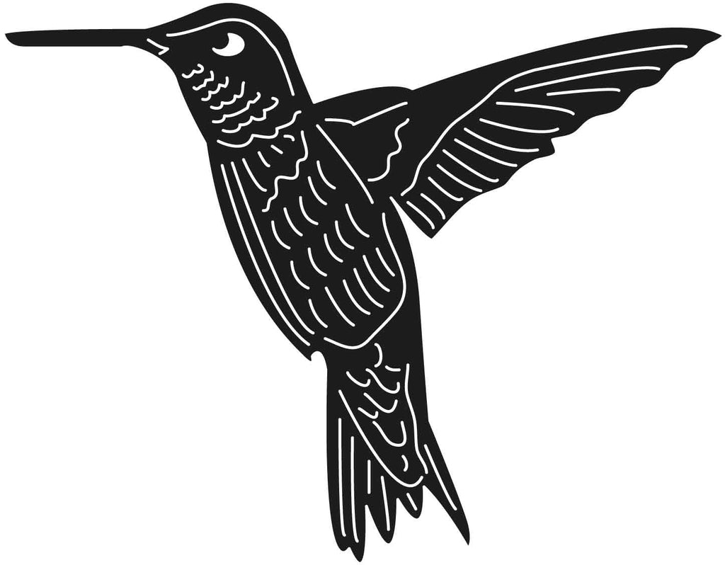 Hummingbird Flying-DXF files Cut Ready for CNC-DXFforCNC.com