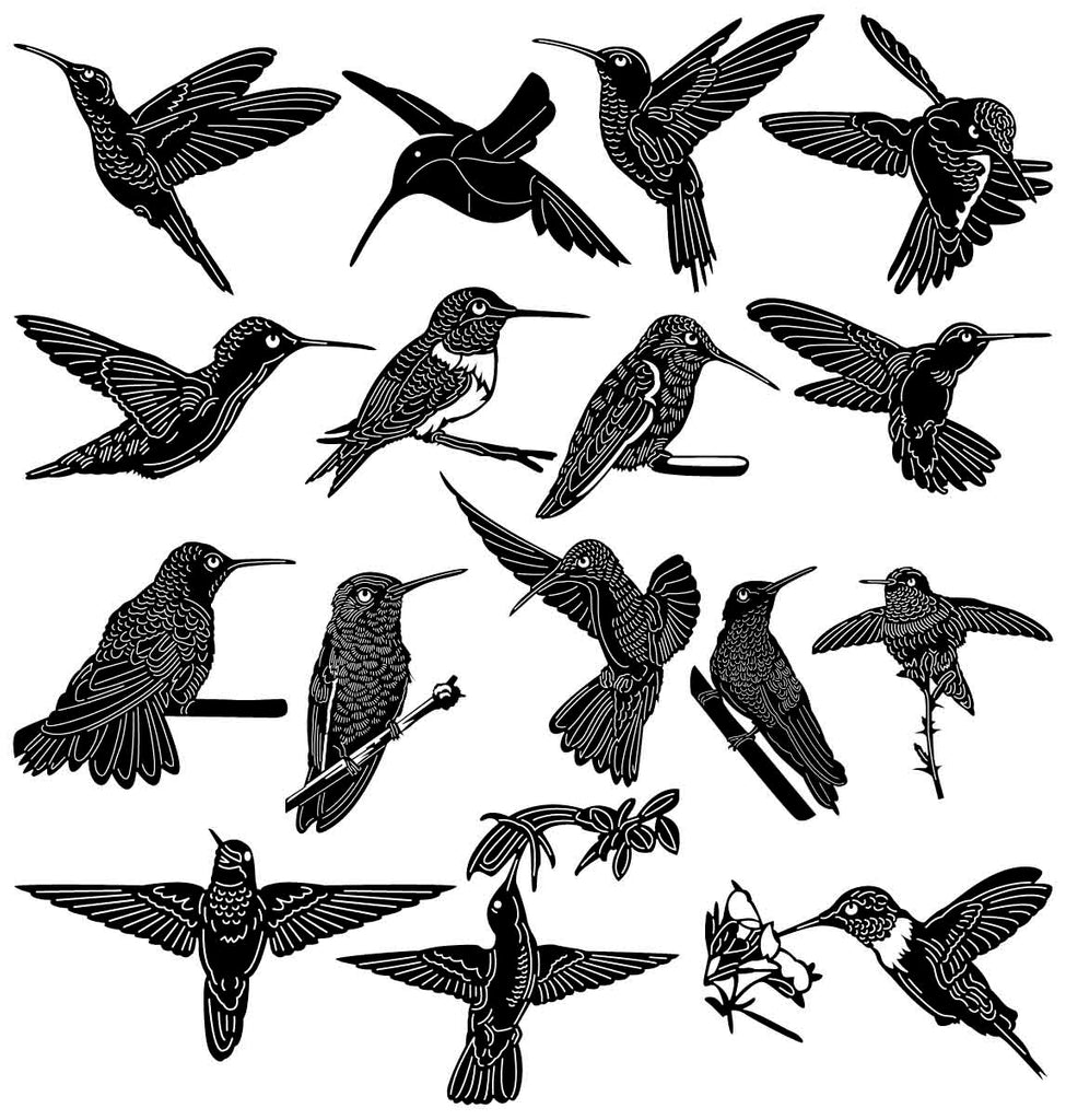 Hummingbird-DXF files Cut Ready for CNC-DXFforCNC.com