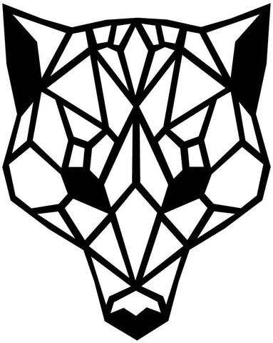 Husky Face Geometric-DXF files Cut Ready for CNC-DXFforCNC.com